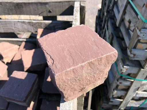 """Sandstein-Kleinpflaster """"Mandana-rot"""""""