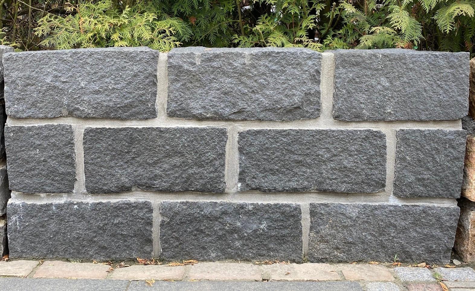 """Granit-Trockenmauersteine """"Indisch-schwarz"""""""